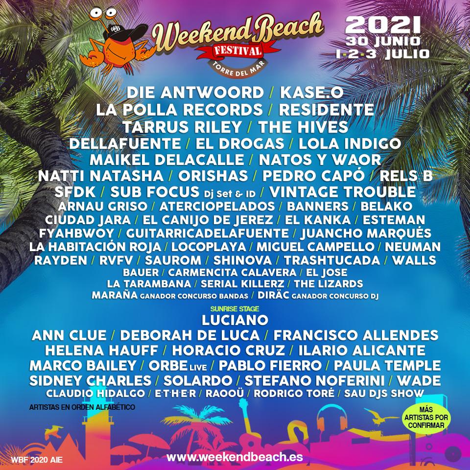 Comunicado Weekend Beach Festival Torre Del Mar Weekendbeach