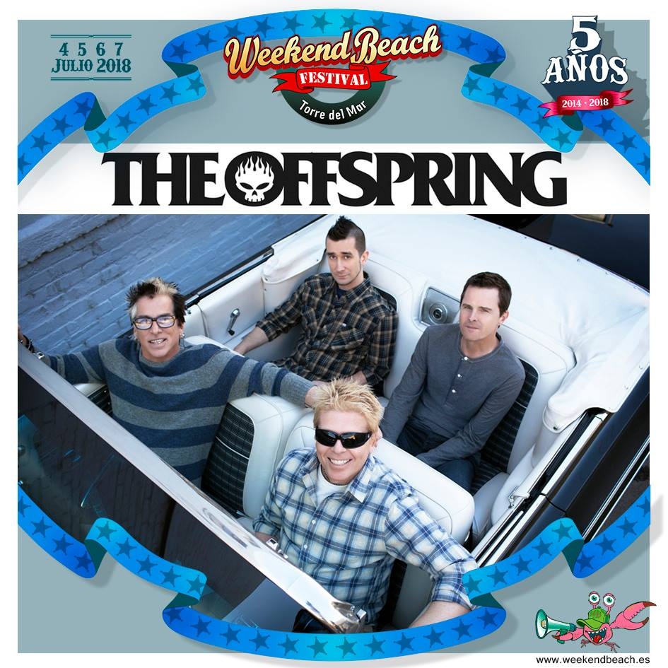 THE OFFSPRING, JIMMY CLIFF, IZAL y ADAM BEYER, regalazo navideño del Weekend Beach Festival Torre del Mar
